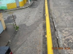 Rachaduras calçada